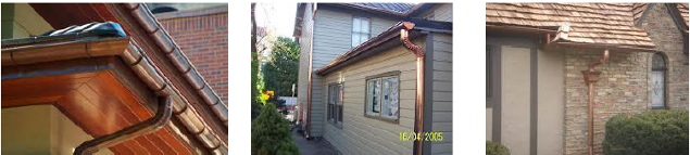 "6"" Copper Half Round Gutter Systems,  Gutter Systems & Accessories in Bensenville, Illinois"